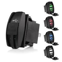 3.1A Cargador de coche dual USB LED Toma de corriente para iPhone 7 Sumsung HS1