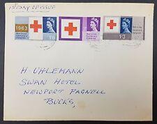 GB FDC 1963 Red Cross Ordinary Set on Plain Cover, Newport Bucks CDS