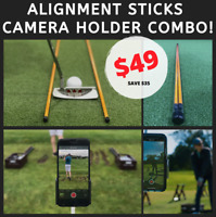 Golf Alignment Sicks and SmartPhone Holder COMBO 🔥