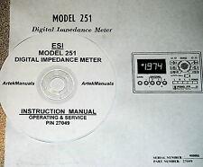 Electro Scientific ESI 251 Digital Impedance Meter OPERATING AND SERVICE MANUAL
