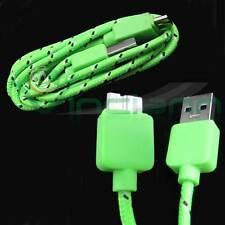 Cavo dati USB 3.0 Tessuto Nylon VERDE specifico per Samsung Galaxy S5 G900F