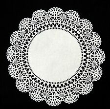 """100 - 8"""" White CAMBRIDGE LACE PAPER DOILIES 