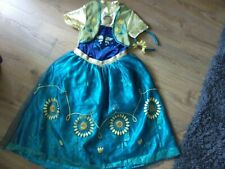 DISNEY FROZEN ANNA DRESSING UP COSTUME WITH HEADBAND. AGED 9-10 YEARS OLD.