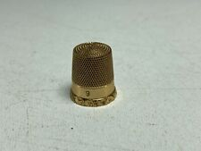 10K Gold Antique Vintage Sewing Thimble 2.7 grams Size 9 w/ Maker's Mark