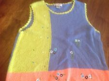 Kim Rogers very soft women's size XL sleeveless summer sweater