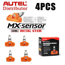 4x Autel MX-Sensor 433MHz Programmable Universal TPMS sensor For Tire Pressure