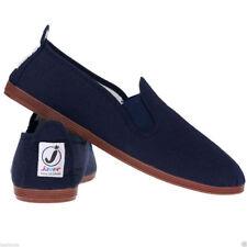 Womens Mens Girls Ladies Flossy Javer Espadrilles Plimsoll Flat Shoes Pumps