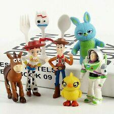 Toy Story 4 Woody Jessie Bo Peep Forky Figure Play Set Toy Cake Topper 7pcs Gifr