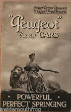 Peugeot 7 / 12 HP Cars Owner Drivers Opinions & Expert Press Reports 1926