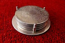 WINE COASTERS - SILVER COLOUR METAL SET  OF 6