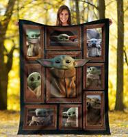 Cute Baby Yoda The Child Gift For Star Wars Fan Quilt, Fleece Blanket