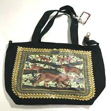 Thursday Friday Leopard Print Canvas Tote Shoulder Bag