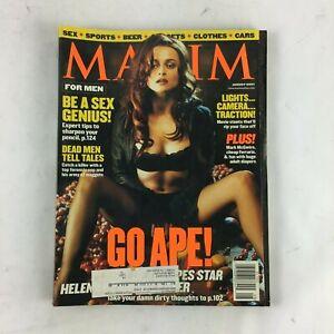 August 2001 Maxim Magazine Go Ape! Be a Sex Genius! Dead Men Tell Tales