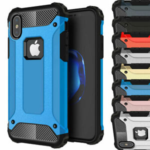For iPhone X XR XS Max Heavy Duty Hybrid Shockproof Armor Cover Case i03