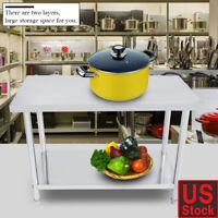 Stainless Steel Work Table Food Prep Kitchen Restaurant US SHIP