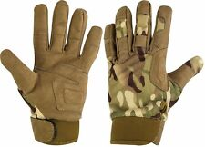 Highlander Covert MTP/HC Camo Duty Leather & Fabric Style protective Gloves Army