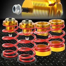 """FOR 06-11 HONDA CIVIC 1-4"""" ADJUSTABLE RED SPRING COILOVER SUSPENSION LOWERING"""