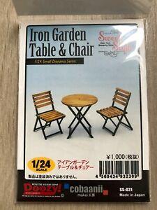 "1:24 - 1:25 ""Iron Garden Table + Chair"" Wood Kit for Diorama Garage / Doozy"