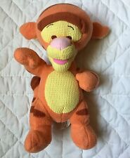 "Tigger Plush Rattle Fisher Price Waffle Thermal Yellow Tummy 10"" Orange Tiger"