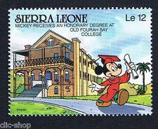 WALT DISNEY 1 FRANCOBOLLO SIERRA LEONE MICKEY MOUSE nuovo