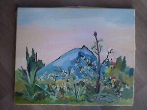 Painting Oil on Canvas Antique Dora Bianka Artist Modern Xx ° S Spring South