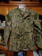 AOR2 Nwu Digitale Woodland Camicia USN Blu Navy Misura x Piccolo Reg W/ Ace
