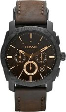 Fossil FS4656 Machine Chronograph Brown Dial 42mm Men's Watch