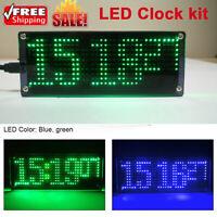 DC 5V Patch Digital Lattice Electronic DIY LED Clock Kit Temperature Clock Set