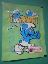 Bustina Figurina Stickers I Puffi Smurfs Merlin   Packet Tüten Pochette /F6/