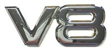 x1 Chrome Metal V8 Emblem Chevy Ford Dodge VW Mercedes Coupe Hemi Plymouth