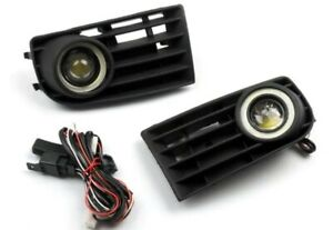 Griglie fari fendinebbia led angel eyes vw golf 5 mk5 V 2003-2009