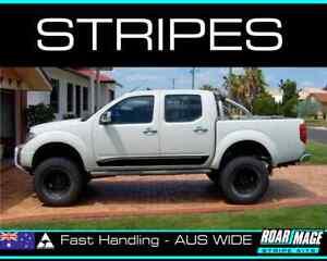 fits D40 Nissan Navara DOOR stripes decals stickers turbo diesel 4x4 4wd