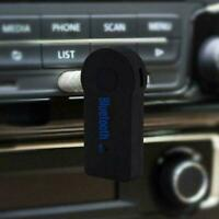 Wireless Bluetooth 3.5mm AUX Audio Stereo Music Car Black. Receiver Mic X9F8