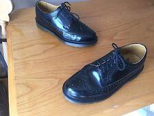 Dr Martens 3989 black brogue shoes UK 6 EU 39 boanil  mod scooter ska skin