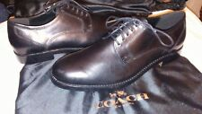 e44a59b0974 COACH MENS SHOES SIZE 9D ANDREW DERBY G1042 BLACK LEATHER  NWOB