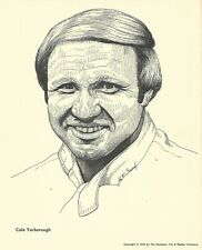 Print: CALE YARBOROUGH Portrait. 1976. Goodyear Tire. NASCAR Auto Racing. Photo.