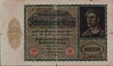Huge 1922 Germany Weimar Republic Hyper Inflation 10.000 Mark Banknote