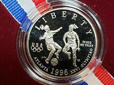 1996 S US Olympics Soccer Clad Half Dollar w/Box+COA B2S