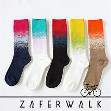 5 Pairs Lot Womens Fashion Color Art Design Cotton Knit Crew Boot Socks,US 5-9
