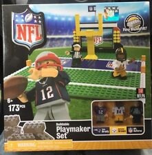 Nfl Tom Brady Antonio Brown Minifigures Playmaker Set Lego Oyo 173 Pcs