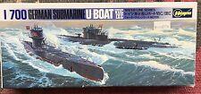 Hasegawa German Submarine U-Boat 1/700 Scale VIIC/IXC WW2 #126 In BOX 2 Boats ~