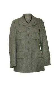 Vintage Swedish Army Fitted Wool Coat / Jacket / Tunic WWII M39. 1940
