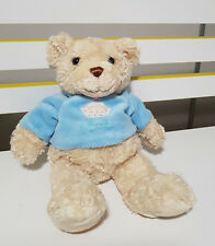 HARRODS TEDDY BEAR BLUE SHIRT WITH CUPCAKE! SOFT TOY PLUSH TOY 28CM!