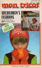 Mon Tricot Children Knitting Crochet Patterns Dress Hood Jacket Family 1972