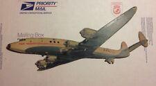 1950s TWA Trans World Airlines Lockheed Constellation cardboard display 16 inch