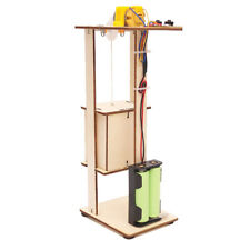 Assemble DIY Electric Lift Kids Science Wooden Toys Experiment Tool