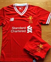 Liverpool FC Home Football Shirt + Short Kids Kits 17-18 NEW SEASON