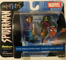 Spider-Man MARVEL PETER PARKER SPIDERMAN & GREEN GOBLIN 2 PACK Classic FIGURES