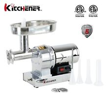 Kitchener #12 Commercial Grade Electric Meat Grinder 3/4 HP 720-lbs/Hr
