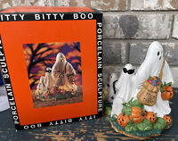 Prettique Itty Bitty Boo Porcelain Halloween Ghost Sculpture Light-up in box